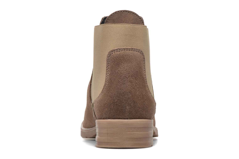Botines  Vero Moda Sofie Leather Boot Beige vista lateral derecha