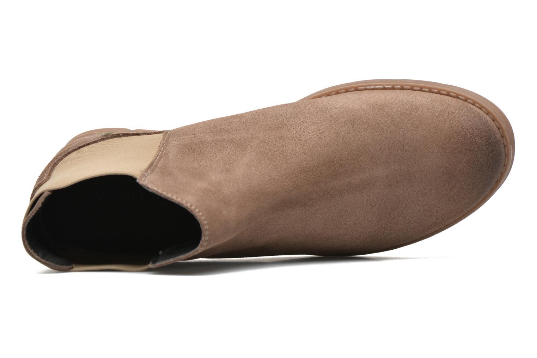 Botines  Vero Moda Sofie Leather Boot Beige vista lateral izquierda