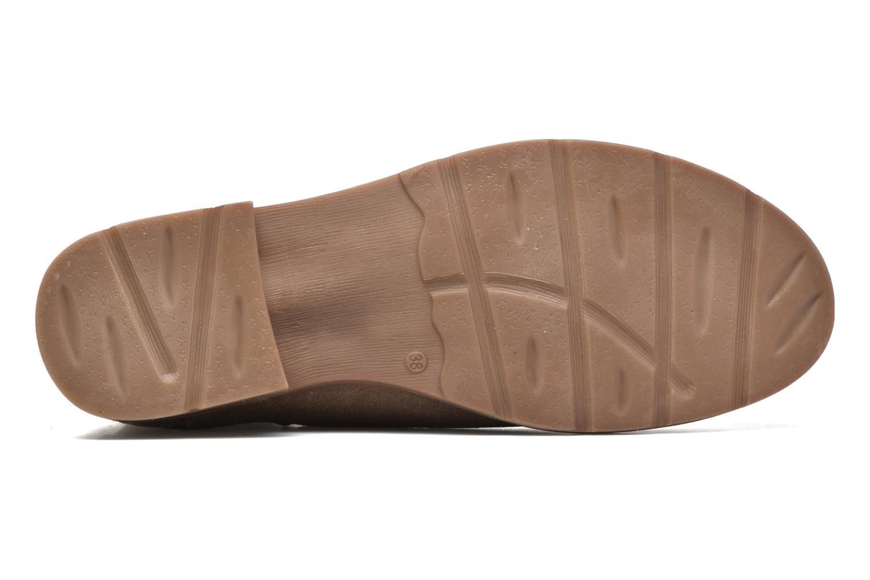 Botines  Vero Moda Sofie Leather Boot Beige vista de arriba