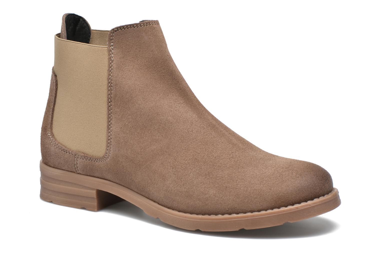 Botines  Vero Moda Sofie Leather Boot Beige vista de detalle / par