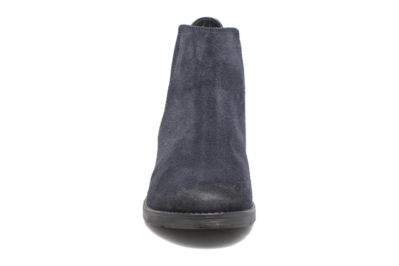 Bottines et boots Vero Moda Sofie Leather Boot Bleu vue portées chaussures