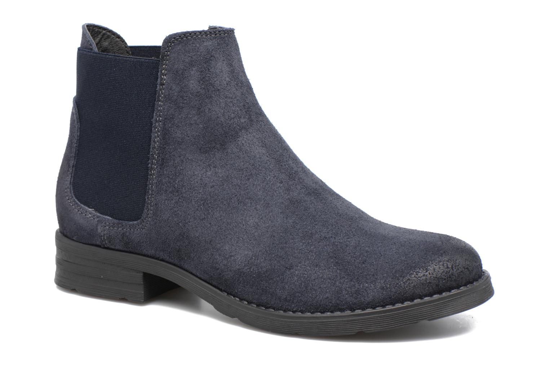 Bottines et boots Vero Moda Sofie Leather Boot Bleu vue détail/paire