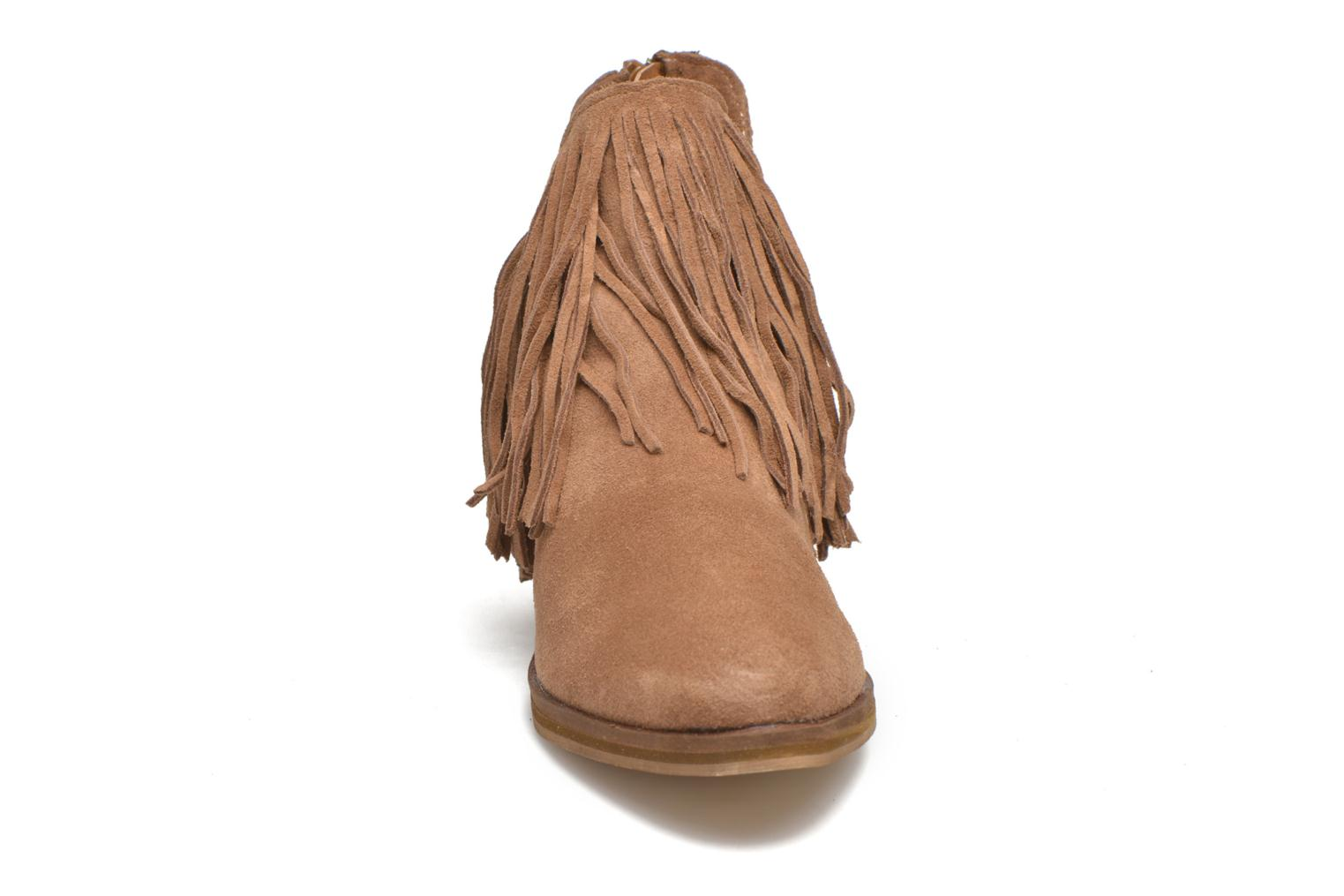 Ankle boots Vero Moda Laure Leather Boot Brown model view