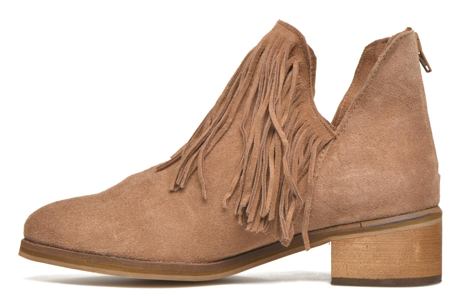 Ankle boots Vero Moda Laure Leather Boot Brown front view