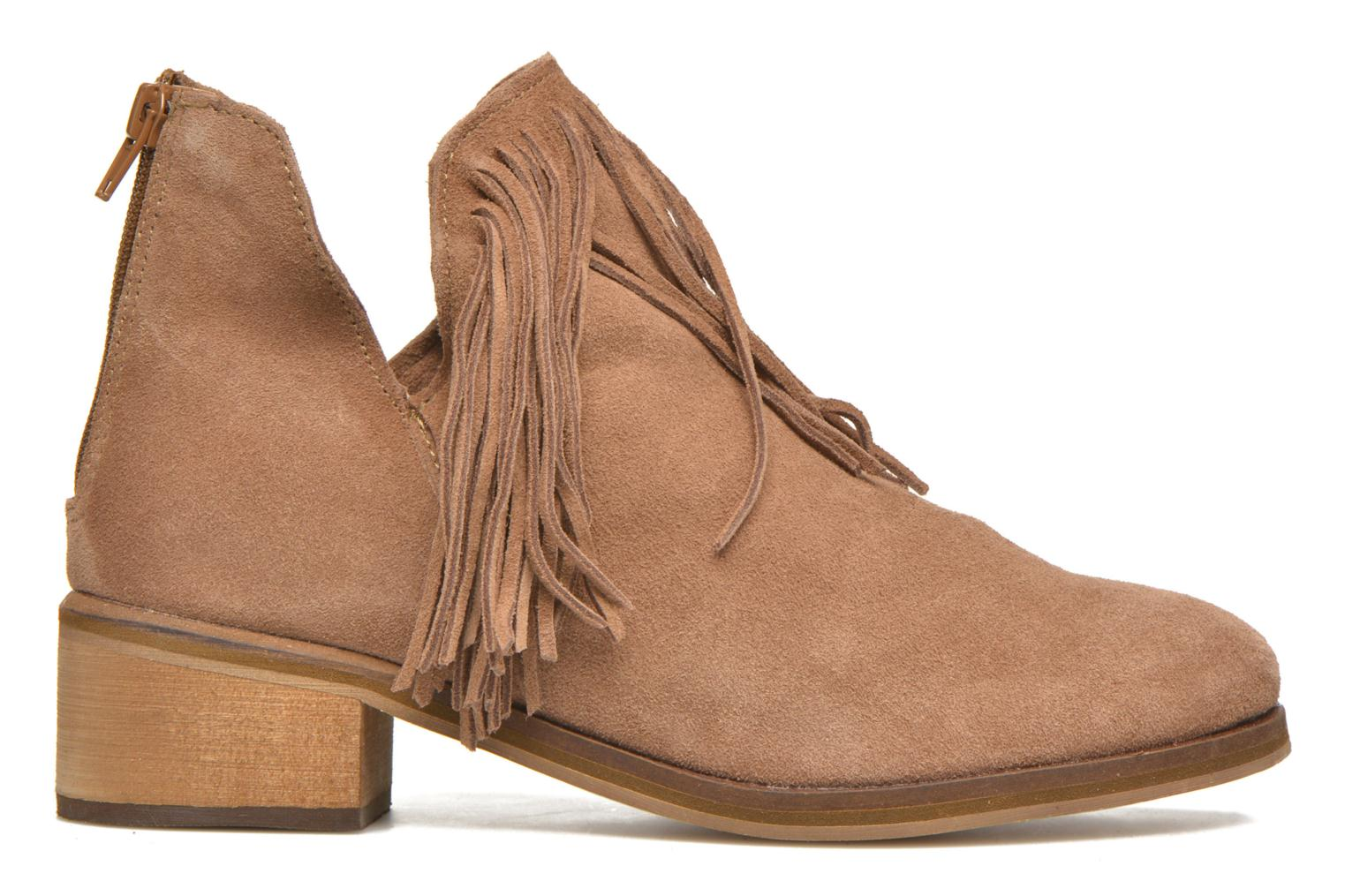 Ankle boots Vero Moda Laure Leather Boot Brown back view