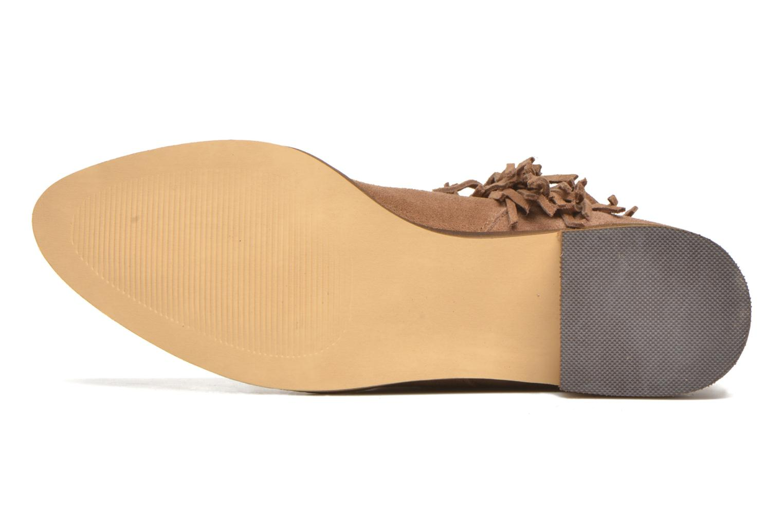 Bottines et boots Vero Moda Laure Leather Boot Marron vue haut