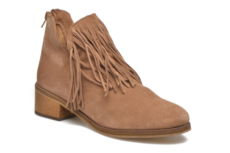 Bottines et boots Vero Moda Laure Leather Boot Marron vue détail/paire