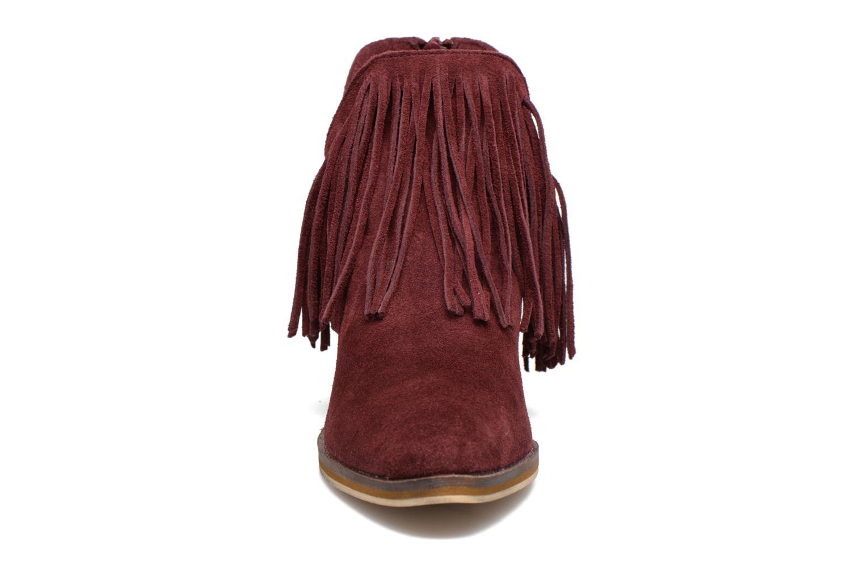 Bottines et boots Vero Moda Laure Leather Boot Bordeaux vue portées chaussures