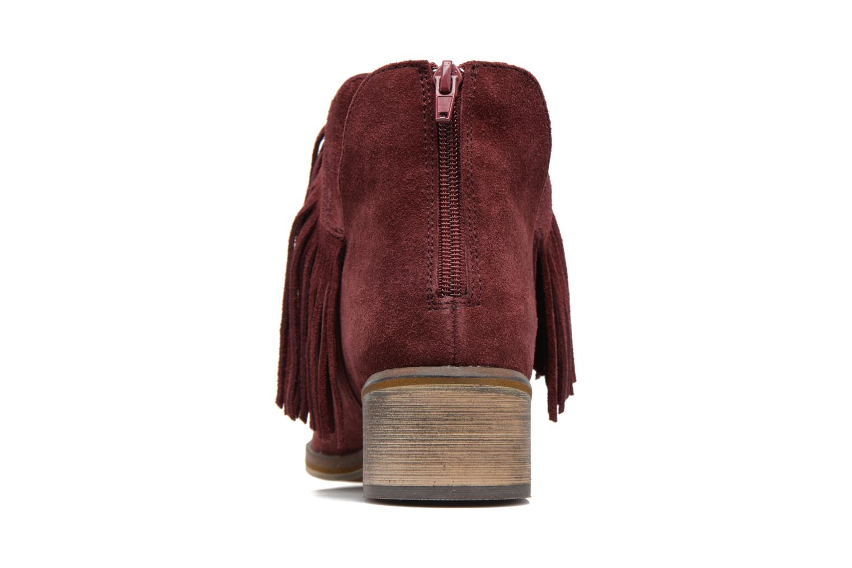 Bottines et boots Vero Moda Laure Leather Boot Bordeaux vue droite