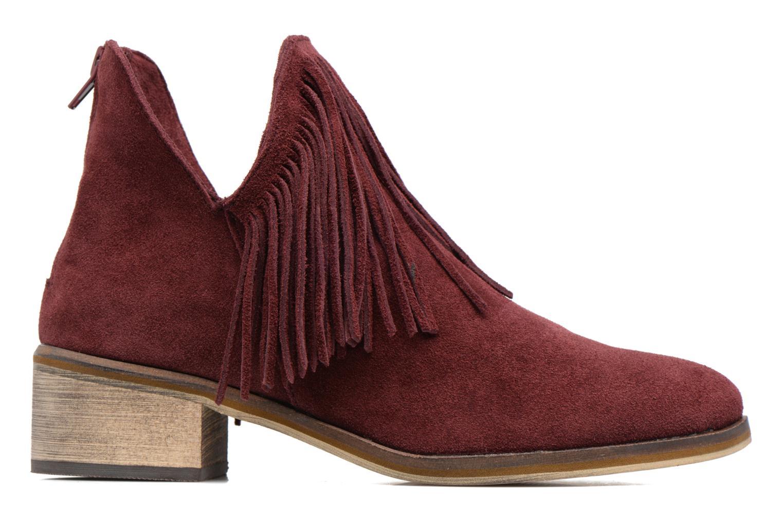 Bottines et boots Vero Moda Laure Leather Boot Bordeaux vue derrière