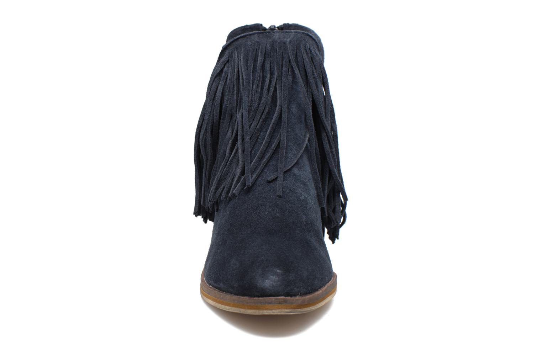 Bottines et boots Vero Moda Laure Leather Boot Bleu vue portées chaussures