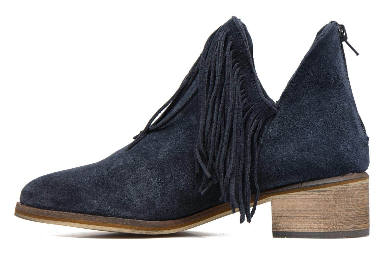 Ankle boots Vero Moda Laure Leather Boot Blue front view