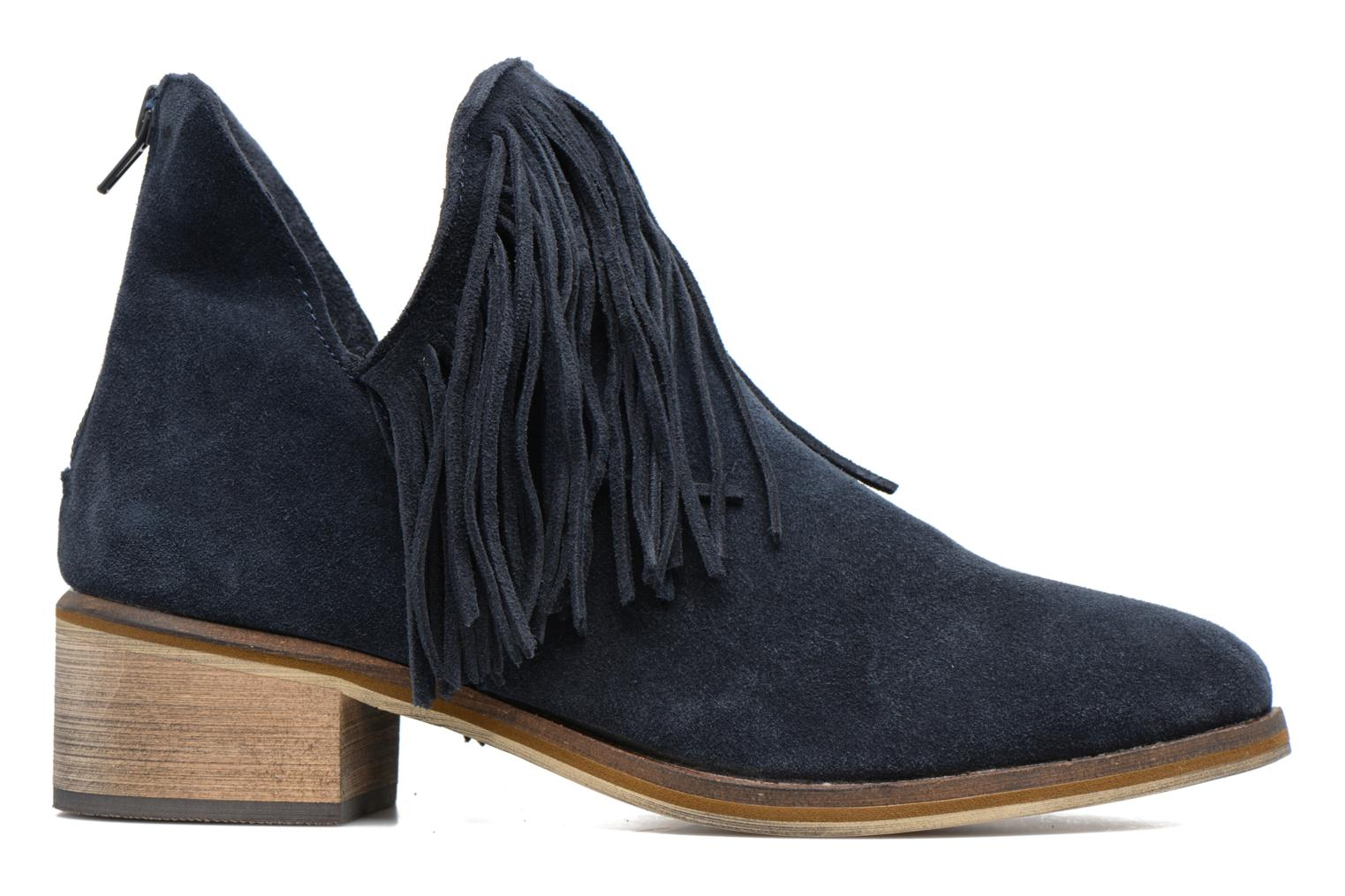 Ankle boots Vero Moda Laure Leather Boot Blue back view