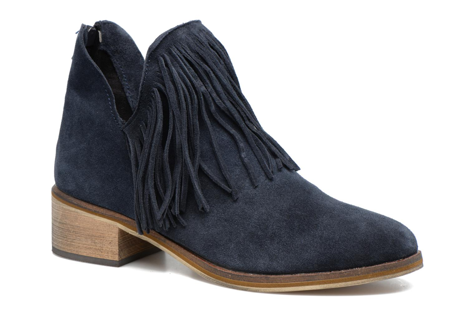 Vero Moda Ankle Leather Boots Women Blue