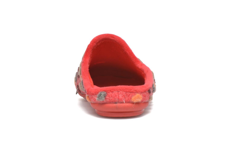 Pantuflas Rondinaud Acolin Rojo vista lateral derecha