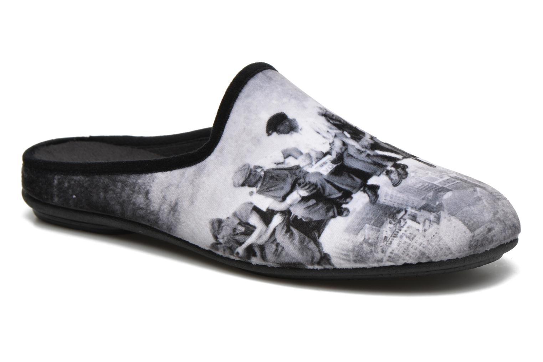 Slippers Rondinaud Gloire Grey detailed view/ Pair view