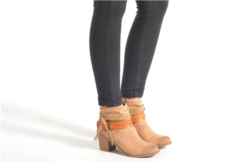 Bottines et boots Roxy Dallas Beige vue bas / vue portée sac