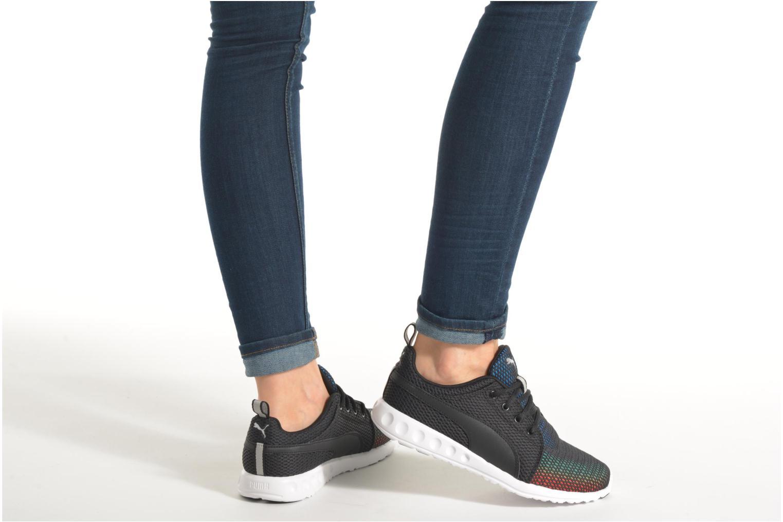 Chaussures de sport Puma Wns Carson Violet vue bas / vue portée sac