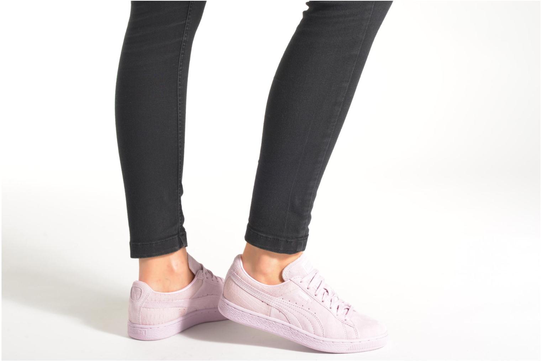 Sneaker Puma Suede Classic Casual W lila ansicht von unten / tasche getragen