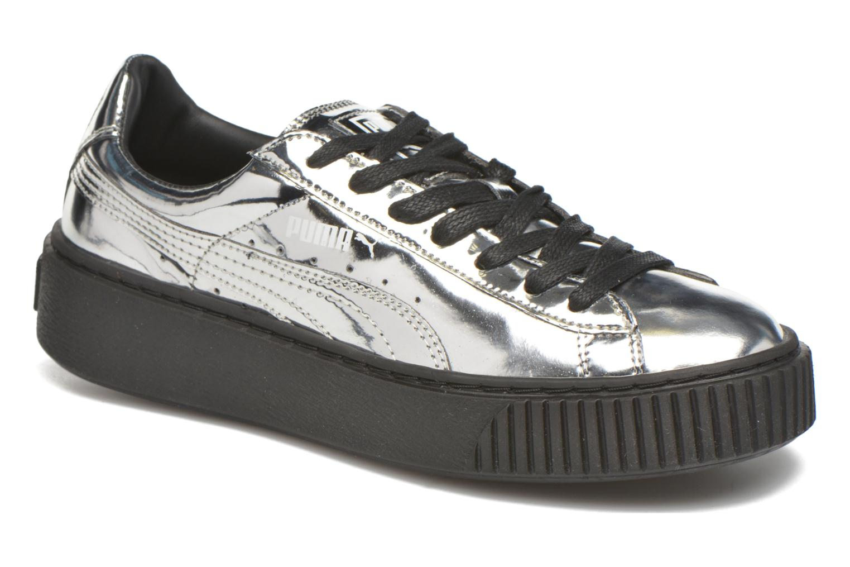Wns Basket Platform Silver