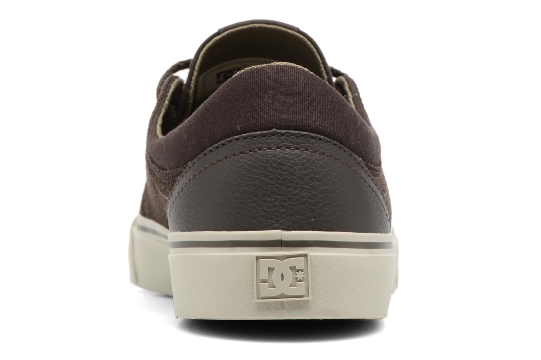 Baskets DC Shoes Trase SD M Vert vue droite