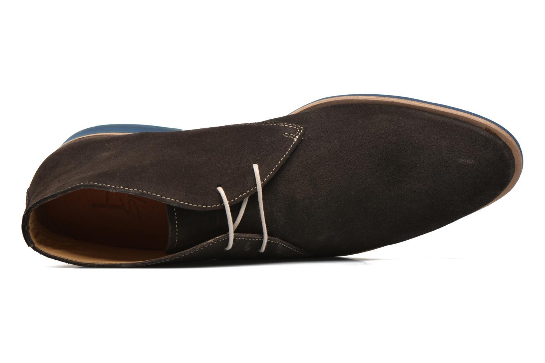 Zapatos con cordones HE Spring Andy Marrón vista lateral izquierda