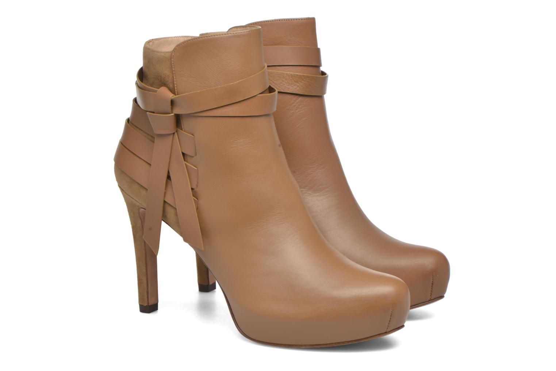 Bottines et boots Pura Lopez Catarina Marron vue 3/4