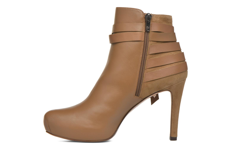 Bottines et boots Pura Lopez Catarina Marron vue face