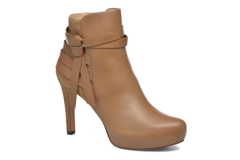 Bottines et boots Pura Lopez Catarina Marron vue détail/paire