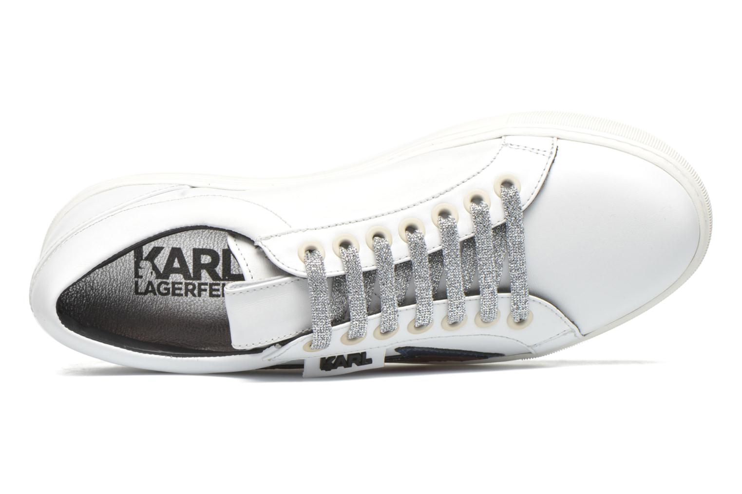 Baskets Karl Lagerfeld Studded Star Loafer Blanc vue gauche