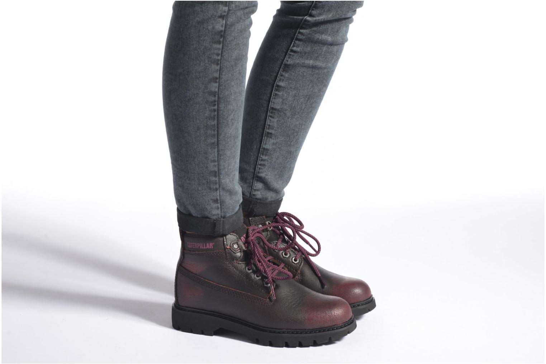 Chaussures à lacets Caterpillar Melody Bordeaux vue bas / vue portée sac