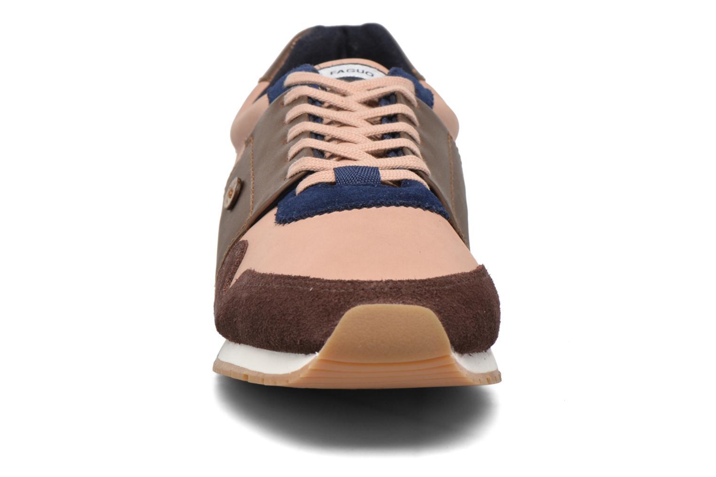Baskets Faguo Olive 03 Rose vue portées chaussures
