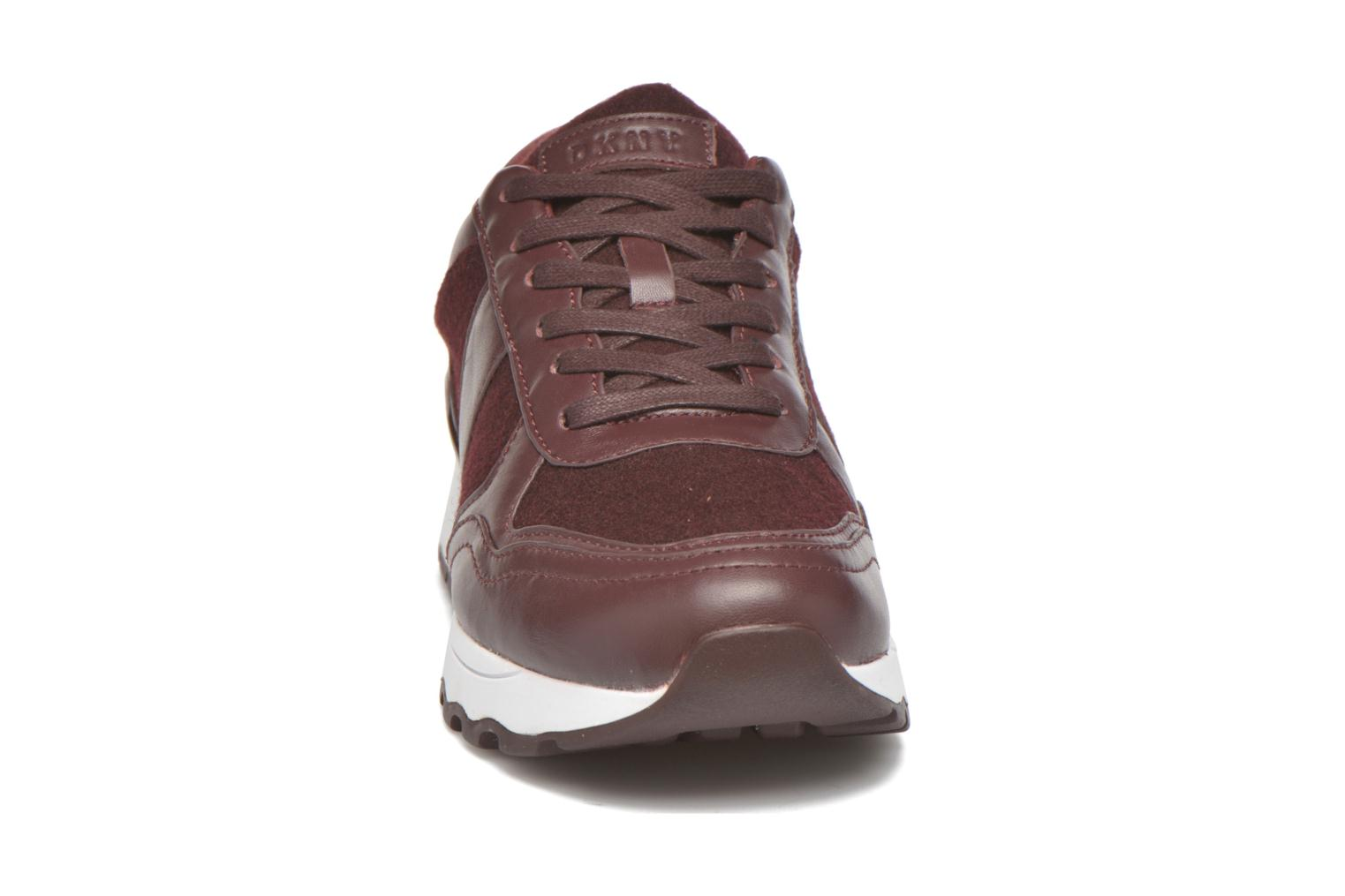 Trainers DKNY Jamie sport- lace runner Burgundy model view