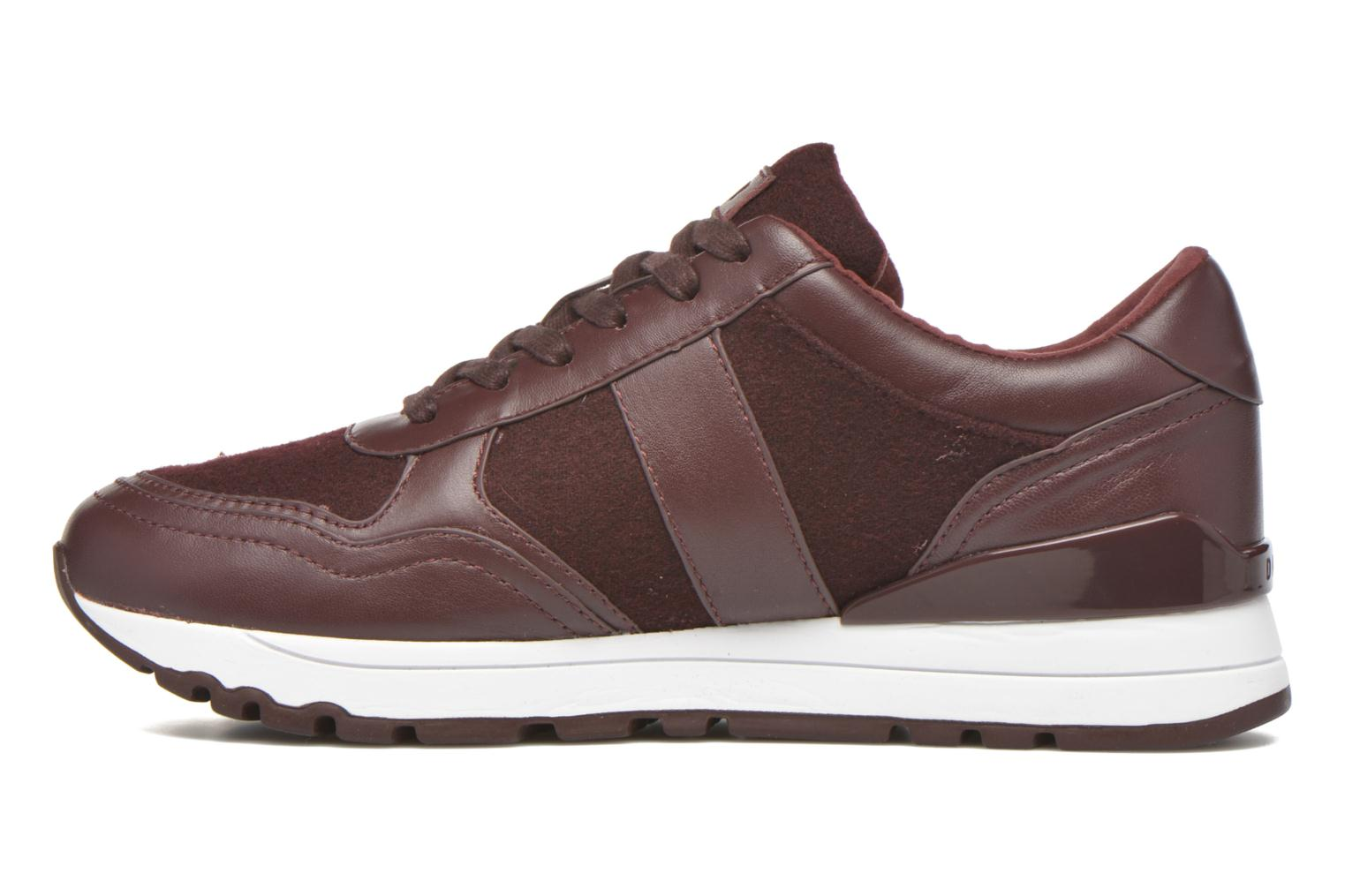 Trainers DKNY Jamie sport- lace runner Burgundy front view