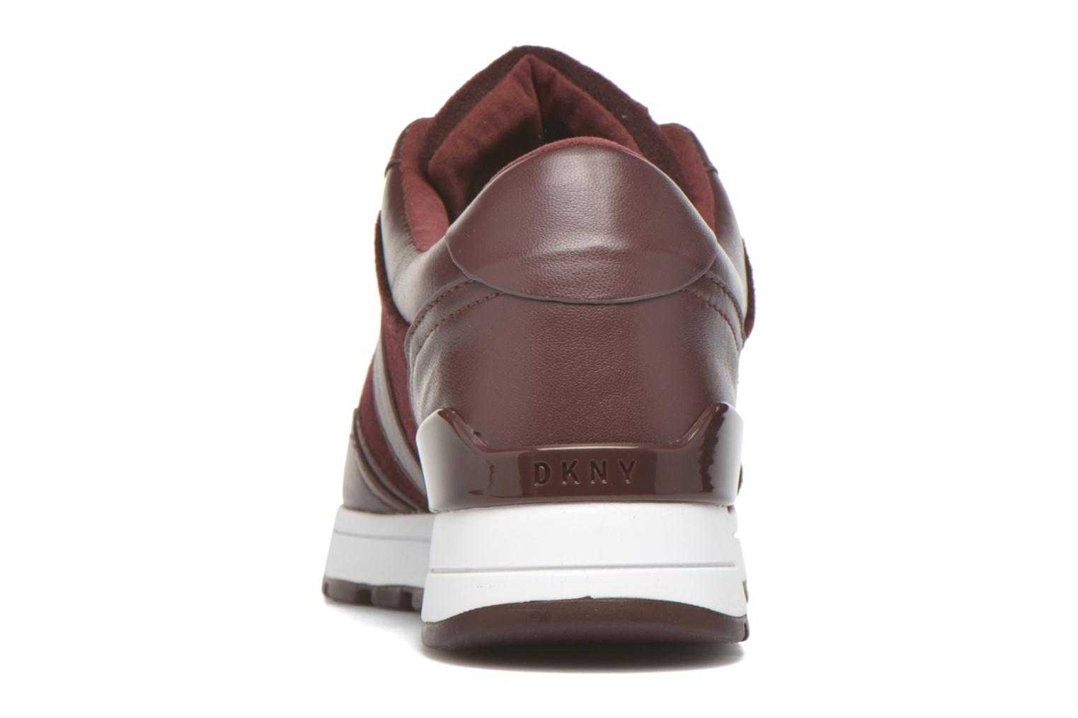 Trainers DKNY Jamie sport- lace runner Burgundy view from the right