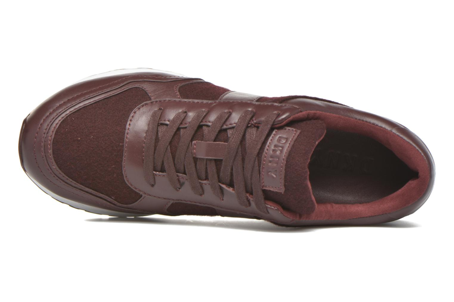 Trainers DKNY Jamie sport- lace runner Burgundy view from the left