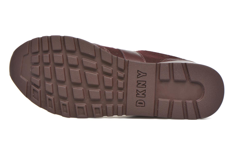 Deportivas DKNY Jamie sport- lace runner Vino vista de arriba