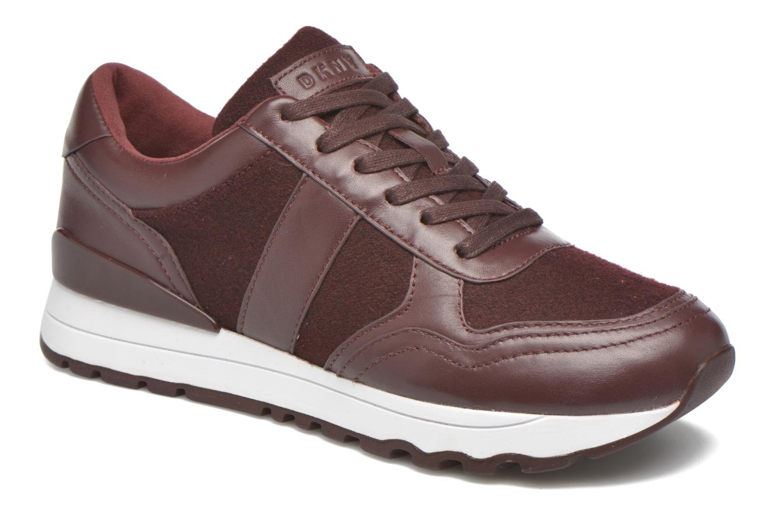 Trainers DKNY Jamie sport- lace runner Burgundy detailed view/ Pair view