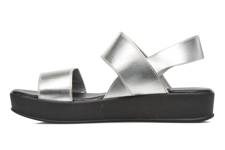 Sandales et nu-pieds Divine Factory Elano Argent vue face