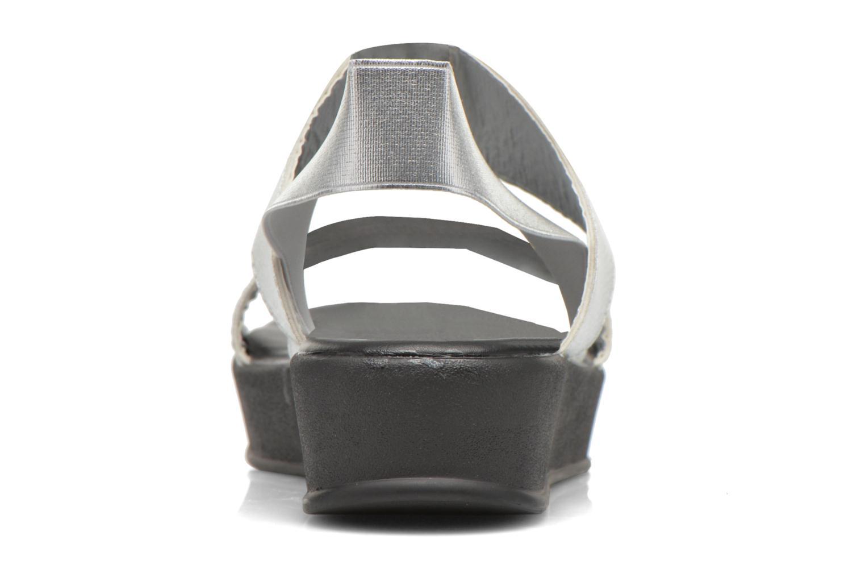 Sandales et nu-pieds Divine Factory Elano Argent vue droite