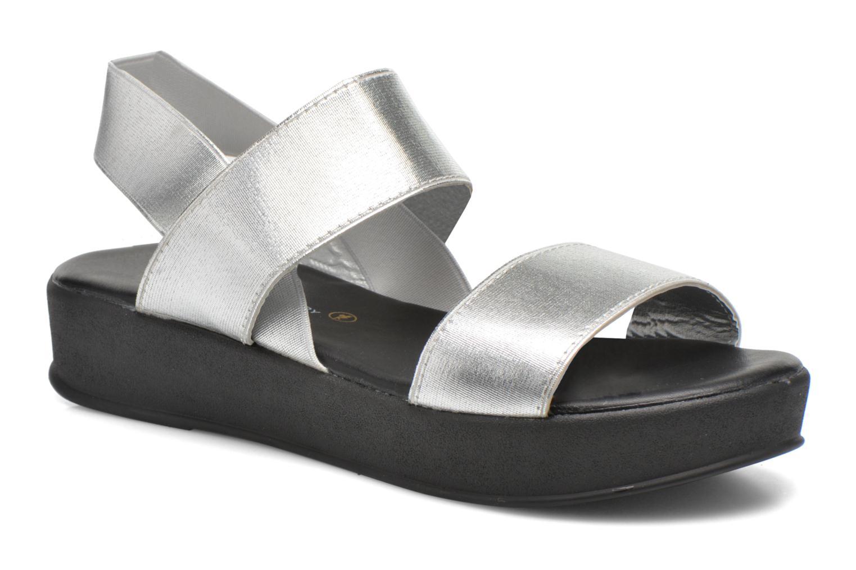 Sandales et nu-pieds Divine Factory Elano Argent vue détail/paire
