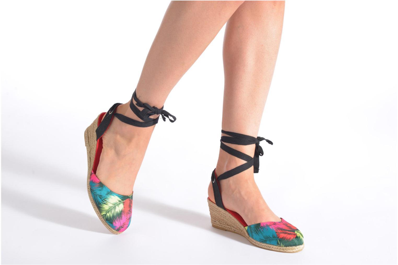 Sandales et nu-pieds Divine Factory Keirel Multicolore vue bas / vue portée sac
