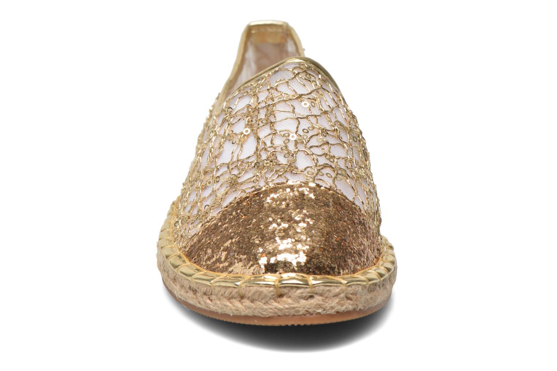 Espadrilles Divine Factory Steni Or et bronze vue portées chaussures