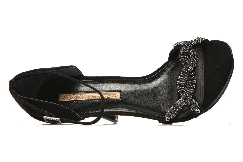Sandales et nu-pieds Buffalo Mynas Noir vue gauche