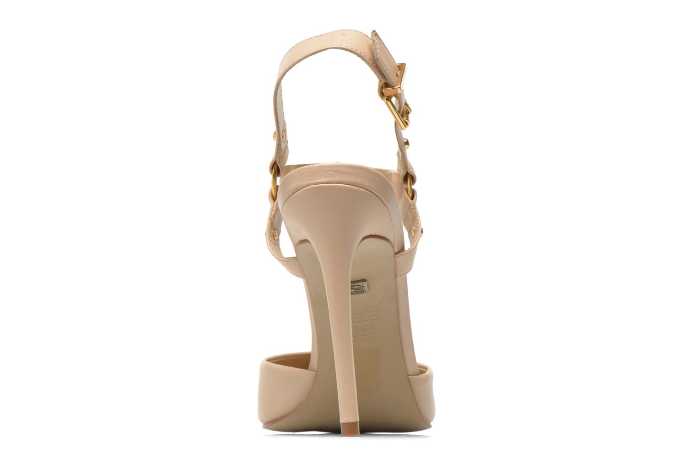 Zapatos de tacón Buffalo Loea Beige vista lateral derecha