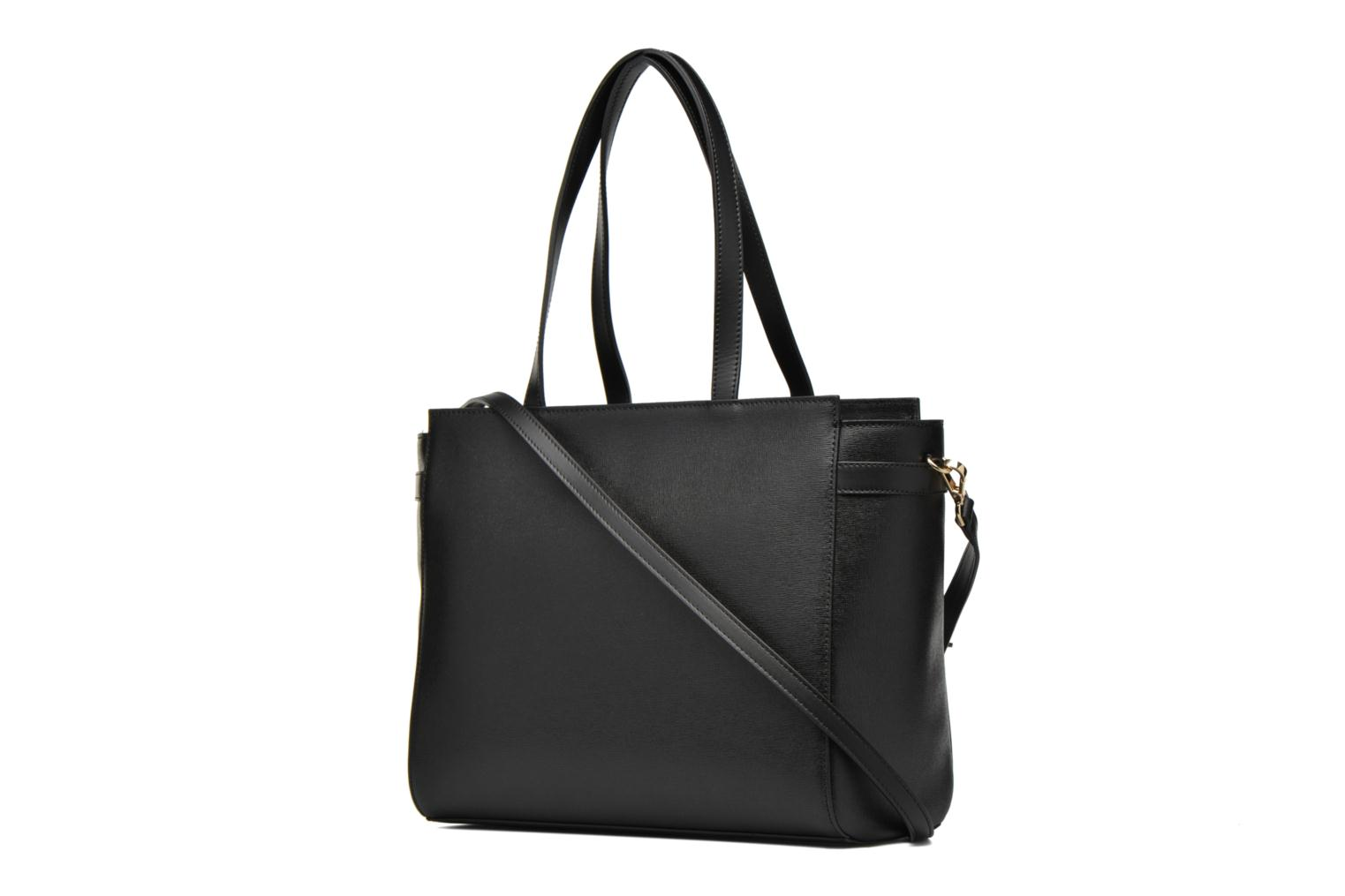 Handbags Minelli MC 904 Porté épaule Black view from the right