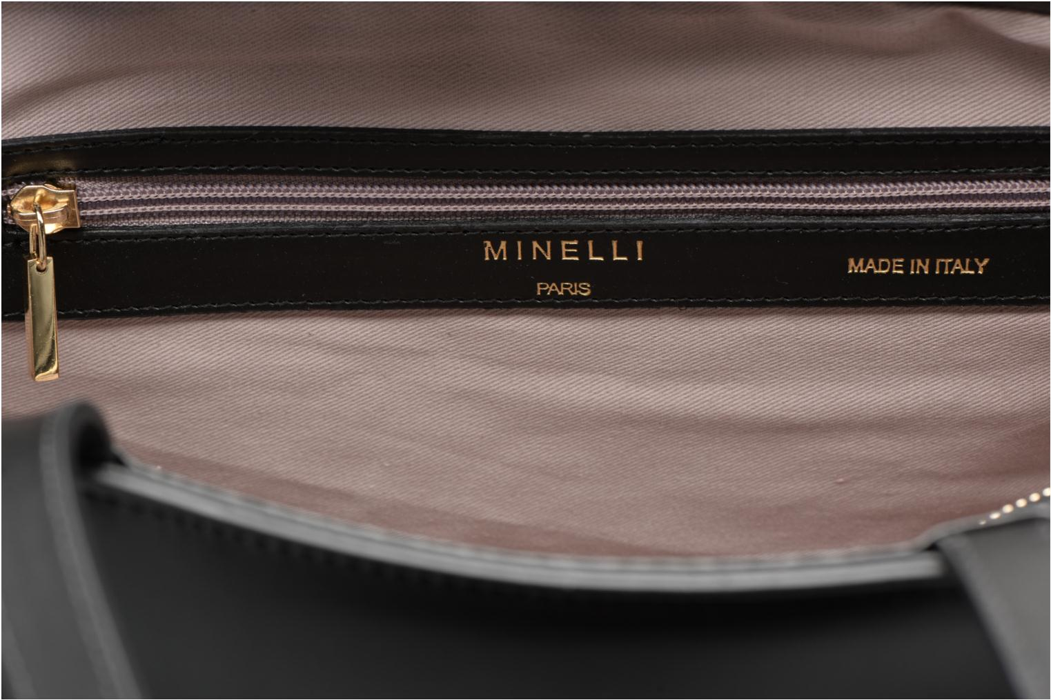 Handbags Minelli MC 904 Porté épaule Black back view