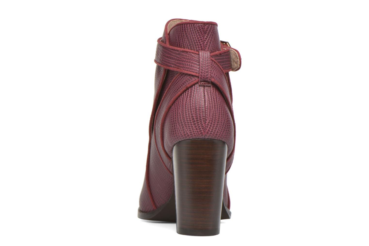 Ankle boots Mellow Yellow Alida Burgundy view from the right