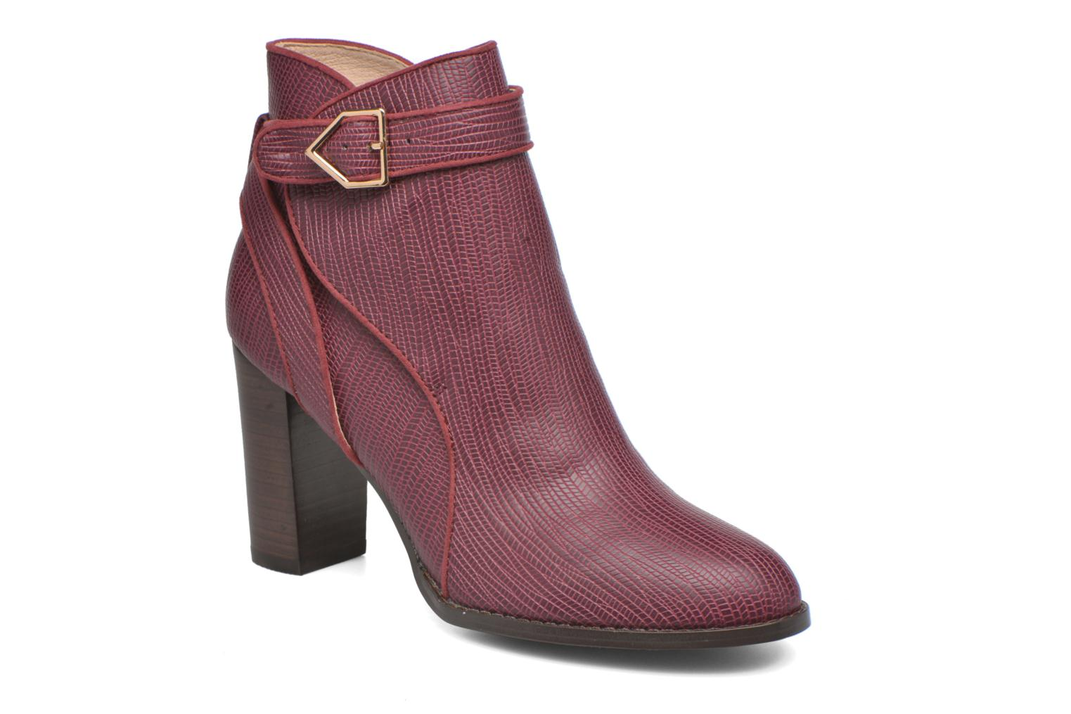 Ankle boots Mellow Yellow Alida Burgundy detailed view/ Pair view