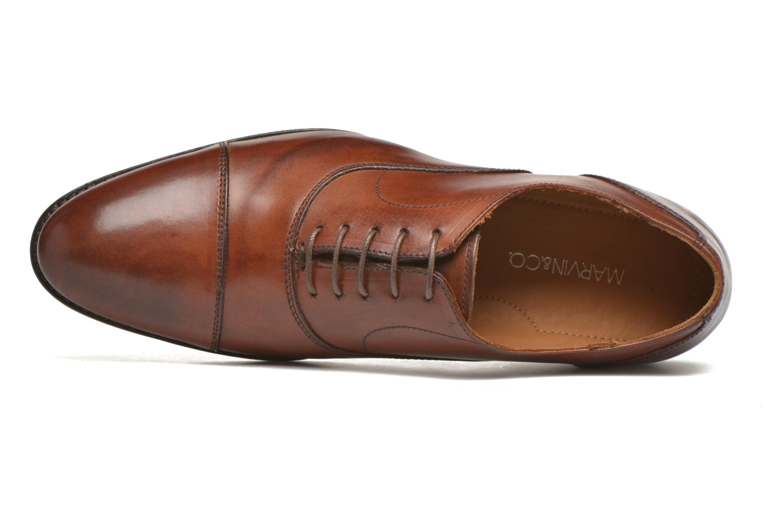 Zapatos con cordones Marvin&Co Nympsfield Marrón vista lateral izquierda
